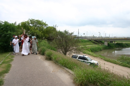 Way of the cross and border patrol April 9 2004